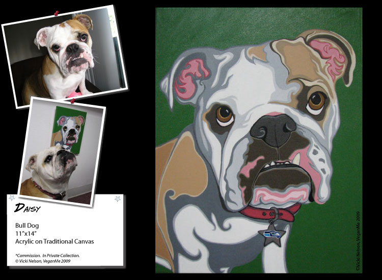 Daisy the Bull Dog portrait